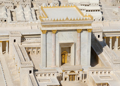 Model of the Second Temple in Jerusalem during the time of Herod. The Israel Museum, Jerusalem.