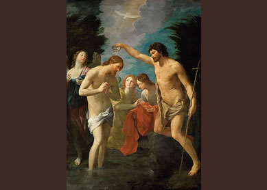 Guido Reni, The Baptism of Christ. Oil on canvas, ca. 1622. Kunsthistorisches Museum, Vienna.