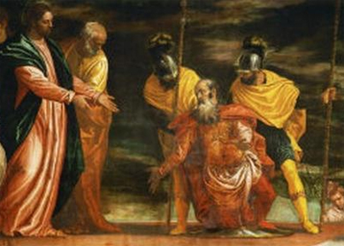 Paolo Veronese, Jesus Healing the Servant of a Centurion. Oil on canvas, 16th century.