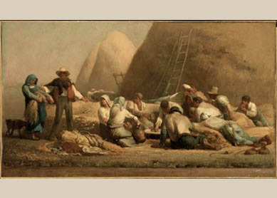 Jean-François Millet, Harvesters Resting (Ruth and Boaz),1850–53. Oil on Canvas, Museum of Fine Arts, Boston, Massachusetts.