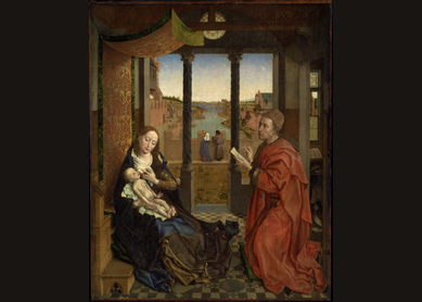 Rogier van der Weyden, Saint Luke Drawing the Virgin, 1435–40.