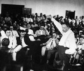 Clarence Darrow during the Scopes Trial, 1925. Library of Congress.