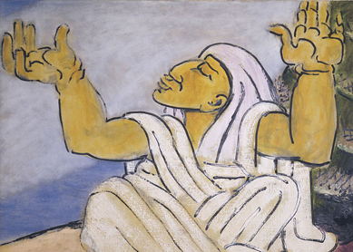Ben-Zion, The Prophetess Deborah. Oil on canvas, 1957.
