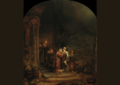 Rembrandt, The Visitation, 1640.
