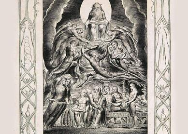 William Blake, Satan Before the Throne of God. Engraving commissioned by John Linnell, 1825.