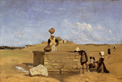 Camille Corot, Breton Women at the Well near Batz, 1844.