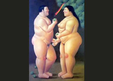 adam-eve-botero