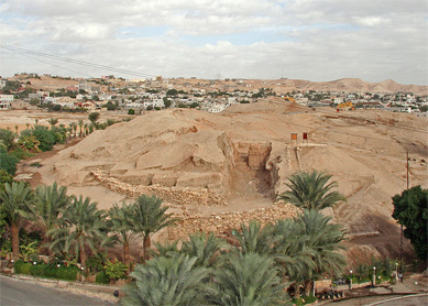 A view of Tell es-Sultan, the site of ancient Jericho.