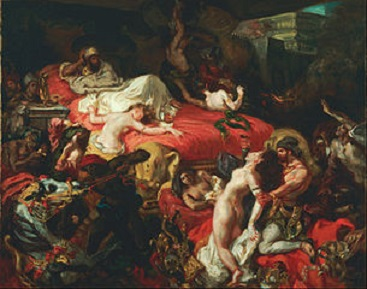 Death of Sardanapalus, 1844.