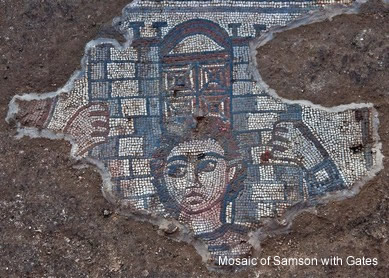Mosaic of Samson with Gates