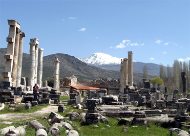 The ruins of Aphrodisias (western Turkey).