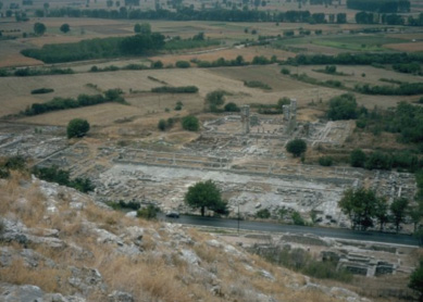 An overview of the site of Philippi, seen from the town's acropolis.