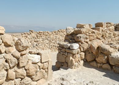 The entrance to a room at the Qumran settlement, identified by some scholars as a scriptorium used for copying scrolls.