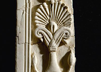 Detail of a floral pattern on an ivory decoration from Samaria.