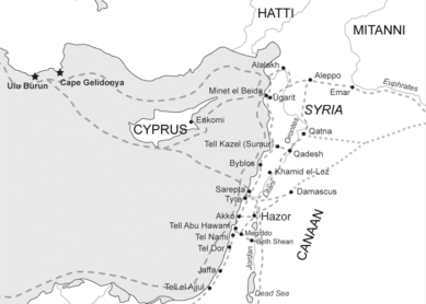 Trade routes to and from Hazor during the Late Bronze Age.