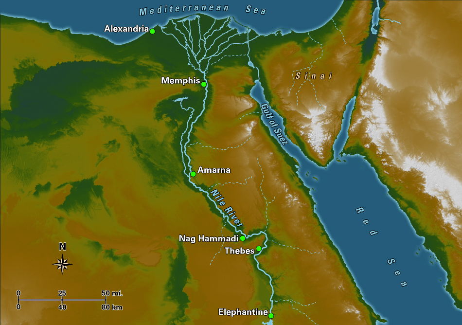 Egypt - Map of egypt old kingdom