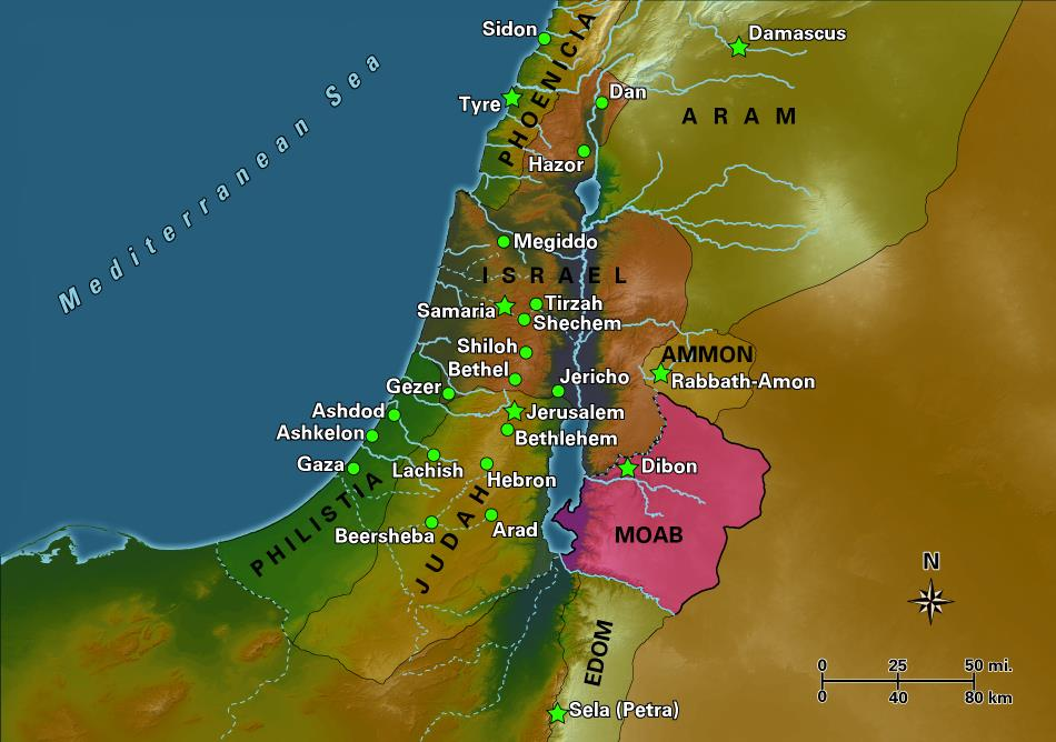 Moab Kingdom Of Judah And Israel Map on israel split into two kingdoms, map of ancient canaan, map of judah, map moab bethlehem judah, israel divided into two kingdoms,